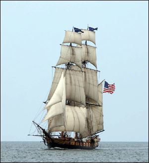 The Brig Niagra sailing ship is a restoration of the vessel that served as the flagship for Commodore Oliver Hazard Perry during the Battle of Lake Erie in the War of 1812.
