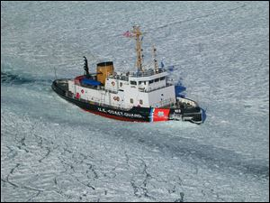 The USCGC Mobile Bay is the one of nine cutters in the Coast Guard's Bay Class of icebreaking tugs. She is one of two Bay Class ships equipped with a 120-foot Aids-to-Navigation barge operating on the Great Lakes.