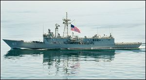 The USS De Wert has been on several missions during its 19 years of service, including a drug-interdiction campaign in 2000 during which a drug smuggler's speedboat rammed the frigate.
