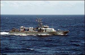 The USS Hurricane, a patrol coastal ship, was deployed earlier this year to Bahrain for duty in the Arabian Sea.