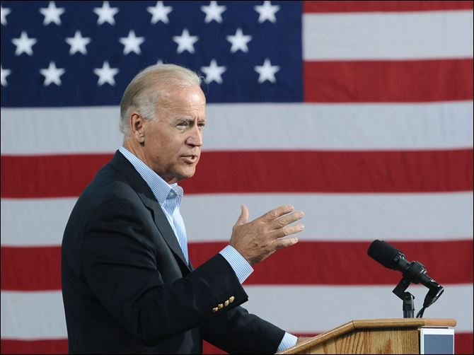 Biden Danville Vice President Joe Biden speaks Tuesday at the Institute for Advanced Research and Learning in Danville, Va.