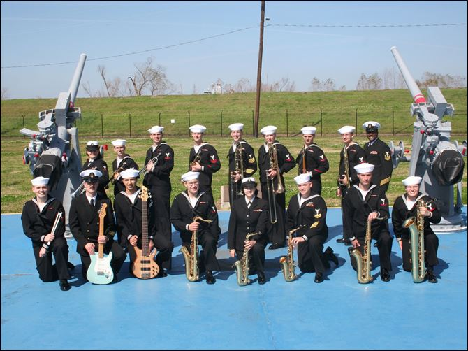 Navy Week band Musicians from the Navy Band will play in various configurations during Navy Week.
