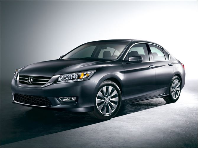 Honda-New Accord The 2013 Honda Accord sedan hits showrooms in a couple weeks, with a fresh athletic look and better fuel economy. Honda, burned by criticism that it cheapened its new Civic earlier this year, says that won't happen with its newest remake.
