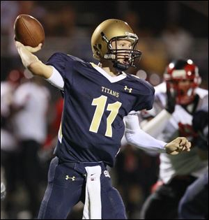 Brogan Roback of St. John's threw for 1,645 yards last year. He has committed to play at Eastern Michigan.