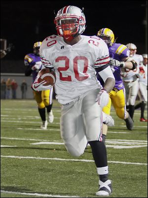 Amir Edwards of Central Catholic has 1,244 rushing yards last season and scored 23 touchdowns.