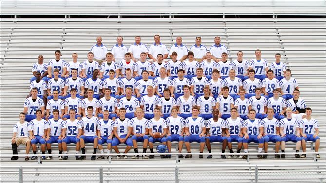 SPT Anthony Wayne High School football team FROM LEFT: Row 1: Christian Yates, Tommy Eichenlaub, David Collins, Jordan Connor, Tyler Deye, Jaden Corbitt, Austin Prokup, Justin Morgan, Qui
