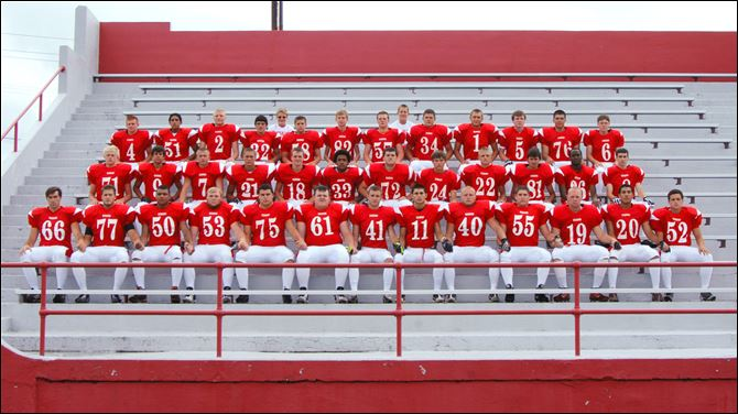 port clinton football FROM LEFT: Row 1: Robert Beck, Michael Kirkpatrick, Zach Wheeler, Chris Overfield, Nick Leone, Ben Petersen, Collin Yurista, Addison Rospert, Cody Smith, Cory Colston, Trey Gluth, Chris Stokes, Drew Blackburn Row 2: Collin Salyers, Jessee Escobedo, Justin Holmes, Keegan Lowe, Chris Weaver, Cal Laurel, Andrew Cline, Jay Greider, Shane York, Zac Smith, Corey Beal, Dylan Stacy Row 3: John Morton, Stephan Daniels, Jordan Kleinhans, Cole Araguz, Zach Kokinda, David Saunders, Kalob Wylie, Tristen Mallory, Alex Bastian, Brock Moore, Jacob Reed, Noah Cros