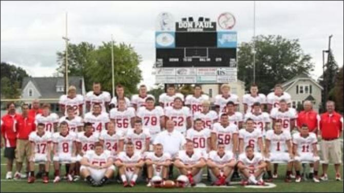 SPT Fremont St. Joseph football team FROM LEFT: Row 1: Logan Hartley, Zack Yeckley, Alex Veleba, Jacob Wurzel, Luke Steirwalt, Jordan Sessler Row 2: Lucas Michael, Jaeden Sherman, Sean Vasquez, Matt Fox, Ryan Williams, Jacob Widman, Corey Durbin, Bennett Weickert, Mitchell Gonya, Marcus Kerr Row 3: Alexander Hicks, Nolan Smith, Bobby Mancha, Grant Mercer, Nick Militello, Hunter Harrison, Nick McNair, Travis Cook, Zack Florino, Jacob Hyde Row 4: Tyler Drown, Parker Steirwalt, Kyle Veleba, Jake Yeckley, Brock Schultz, Nick Magro, Cameron Wasson, Kyle Meyer, Ben Wonderly