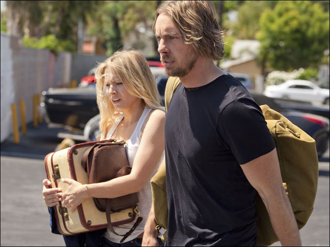 Kristen Bell, left, and Dax Shepard Kristen Bell, left, and Dax Shepard in a scene from