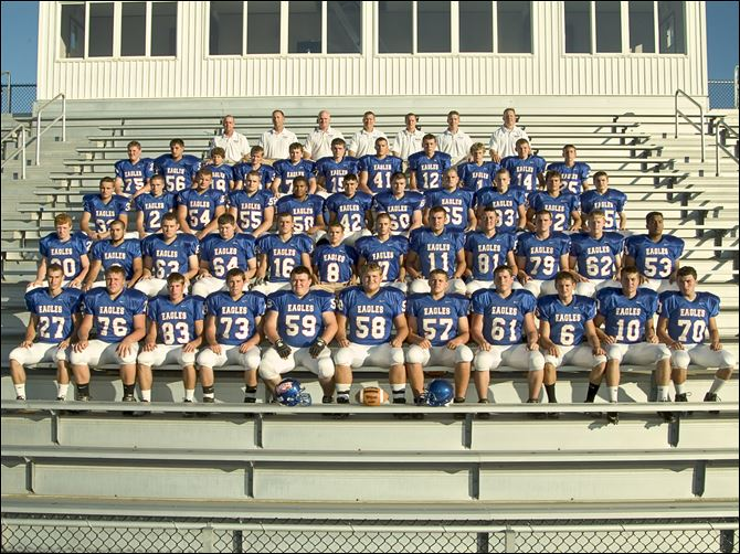 Liberty-Benton High football team FROM LEFT: Row 1: Kyle Bowsher, Zack Smelce