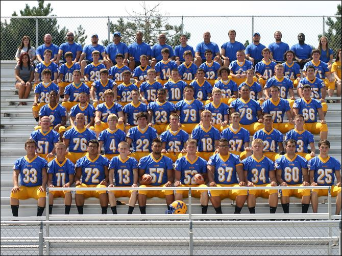 spt NORTHWOOD HS FOOTBALL.jpg FROM LEFT: Row 1: Dustin Fu