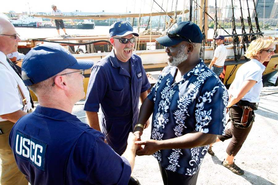 USCG-Mitchell-Miller-greet-Mayor-Bell