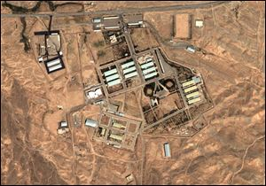 This 2004 satellite image, provided by DigitalGlobe and the Institute for Science and International Security, shows the military complex at Parchin, Iran, about 19 miles southeast of Tehran, a site of concern regarding the production of nuclear weapons.