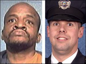 Kevin Randleman, 50, left, was sentenced to life in prison for killing Sandusky Officer Andrew Dunn, right.