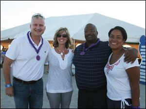 From left, Brian and Renee Mruzek with Romie and Shawn Brown.