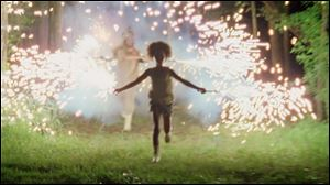 Quvenzhané Wallis, above and below, stars in the highly acclaimed 'Beasts of the Southern Wild.'