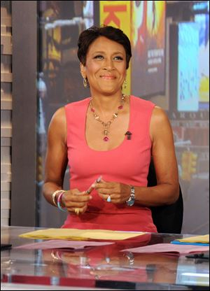 "Co-host Robin Roberts during a broadcast of ""Good Morning America."""