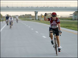 Bill Ivoska of Perrysburg, participates in The Fort to Port Run/Bike/Walk.