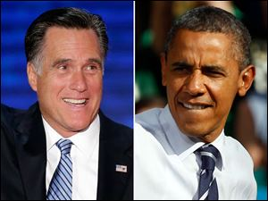 Mitt Romney, left, and President Obama, will seek to win the Latino vote in November.