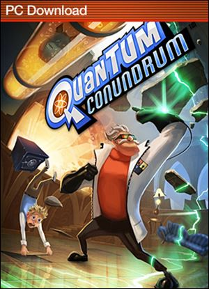 Quantum Conundrum; Grade: * * * 1/2; System: Xbox 360, PS3, PC; Published by: Square Enix; Genre: Puzzle; ESRB Rating: Everyone.