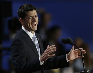 Vice presidential nominee Paul Ryan tells delegates he and Mitt Romney 'would solve the nation's problems.'