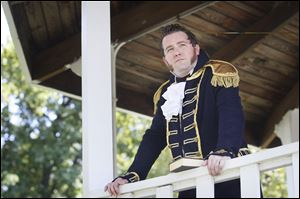 Jeremy Meier, assistant professor of fine and performing arts at Owens Community College, portrays Comm. Oliver Hazard Perry, naval hero of the War of 1812, in a one-man show he developed and wrote.