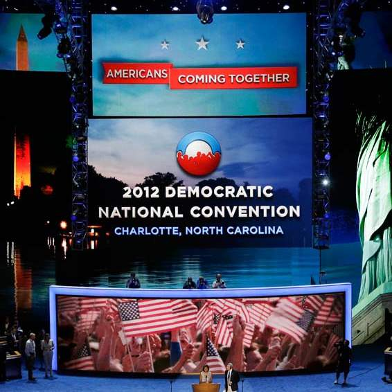 Democratic-Convention-sound-check-stage