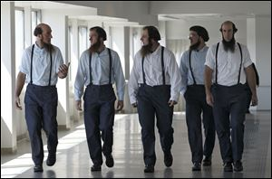 Members of the Amish leave the U.S. Federal Courthouse in Cleveland last week.