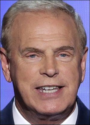 Former Ohio Gov. Ted Strickland addresses the Democratic National Convention in Charlotte, N.C., on Tuesday.