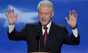 Bill-Clinton-greets-the-audience-at-the-Democratic-National-Convention