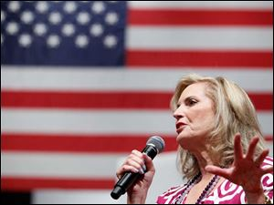 Ann Romney speaks during a Women for Mitt rally at the Winebrenner Auditorium at the University of Findlay in Findlay, Wednesday, September 5, 2012.