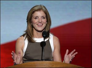 Caroline Kennedy addresses the Democratic National Convention.