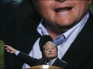 Montana Gov. Brian Schweitzer addresses the Democratic National Convention.