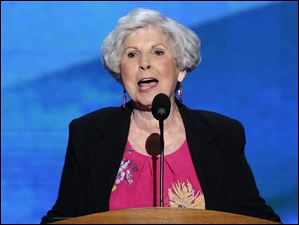 Carol Berman addresses the Democratic National Convention.