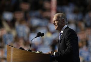 Vice President Joe Biden talked of the President's courage, compassion, and 'spine of steel.'