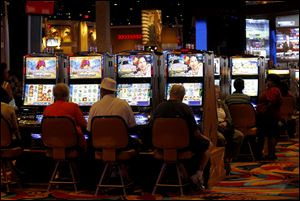 Wagers dropped last month at Hollywood Casino Toledo.