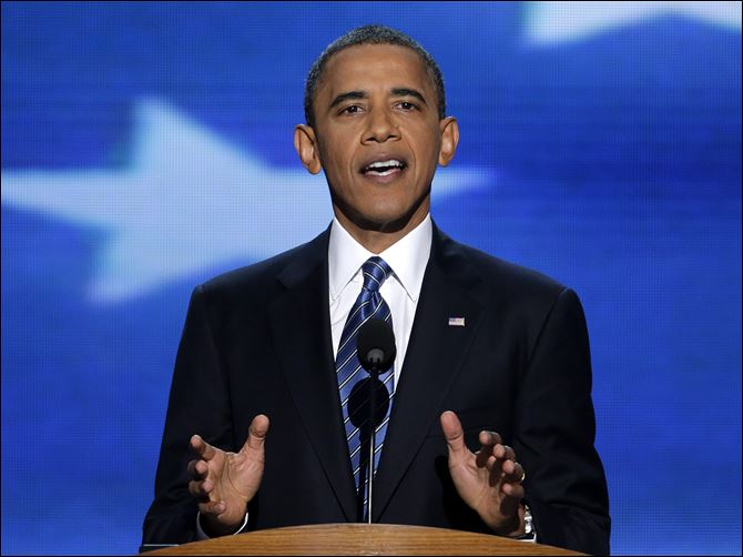 Democratic Convention POTUS President Obama said government cannot fix every problem, but it also cannot be blamed for every ill. He said he needs another term to solve 'challenges that have built up over decades.'