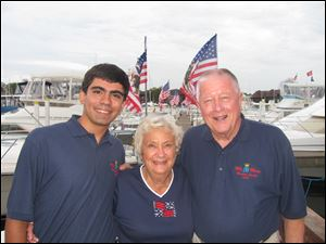 David Tijerina with his grandparents Lois and Walt Churchill at the Harbor Lights event at Catawba Island Club.