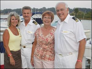 Left to right, Lady Carla Smith, Vice Commodore Ron Reeder, Lady Jean MacDonald, and Rear Commodore Bruce MacDonald.