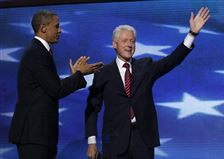 Former-President-Bill-Clinton-acknowledges-the-cheers