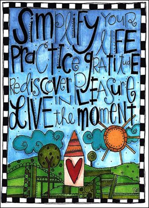 A doodle lettering creation, 'Simplify Your Life,' by Stephanie Ackerman, of Rancho Santa Margarita, Calif.