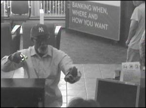 Charter One surveillance picture of the armed robbery.