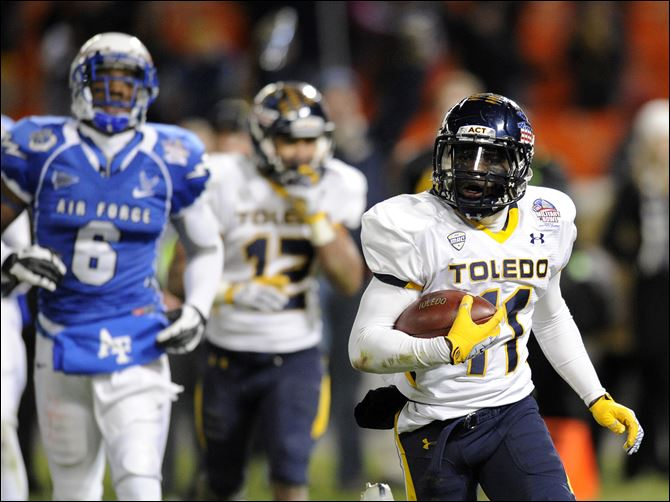 University of Toledo's Bernard Reedy University of Toledo's Bernard Reedy zips toward the end zone during last year's Military Bowl, where he was named the game's MVP. Reedy is off to strong start to replace Eric Page as the Rockets' primary receiver. Offensive coordinator Jason Candle says Reedy is 'a guy the quarterback looks for. He's got the speed to take the ball from point A to point B in a hurry.'