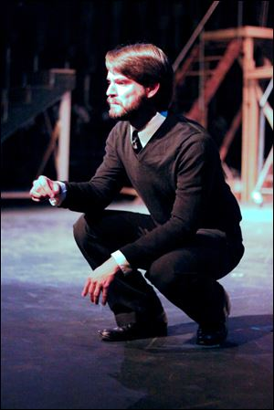 Jeffrey Sneed plays Hamlet in the Toledo Rep production.