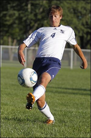 Streaks soccer player David Bontrager during practice in Archbold.