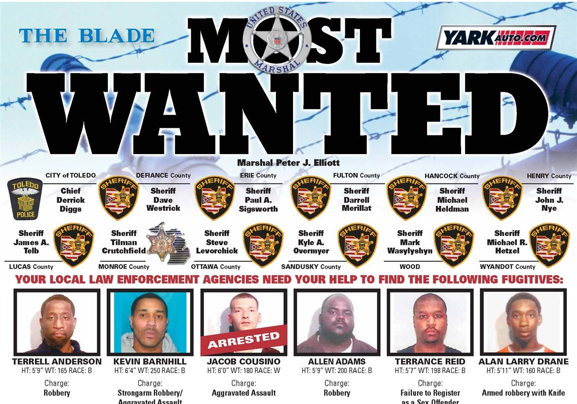 Most Wanted page, reader tips help police nab 500 suspects | Toledo