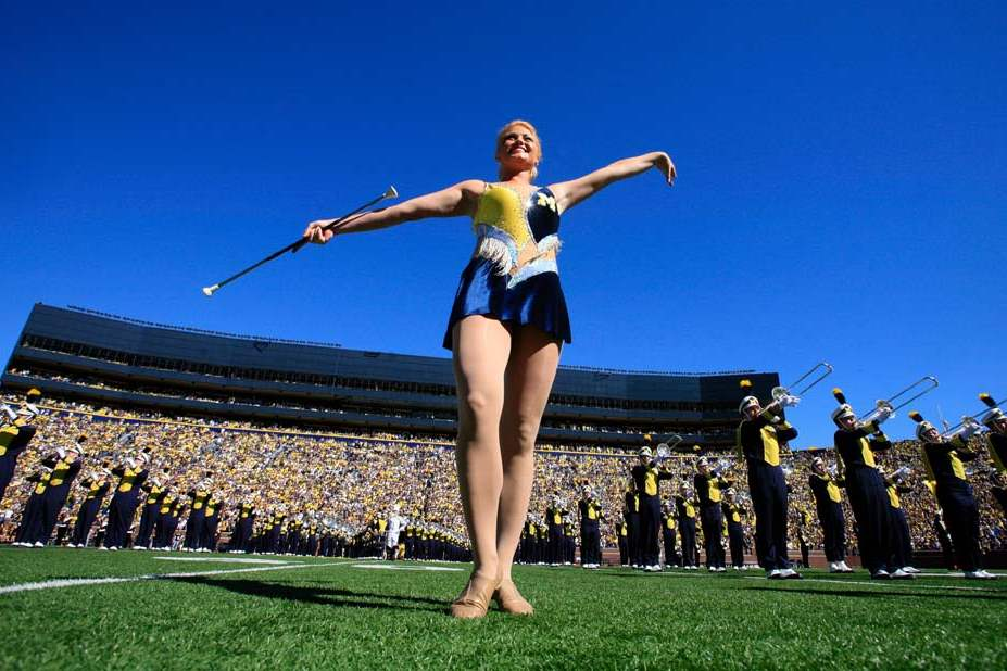 A-University-of-Michigan-baton-twirler