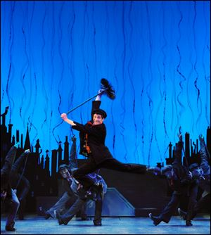 Case Dillard as Bert and the Company of Mary Poppins.