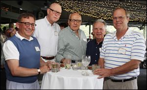 Left to right Mark Kimball, Richard Hebein, Bob Holder, Joe Ferrari, and Jeff Millns during the Toledo Animal Shelter picnic, at the Belmont Country Club in Perrysburg, Ohio.