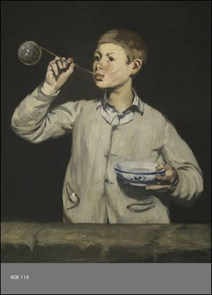 Manet, Boy Blowing Bubbles, 1867. Oil on canvas.